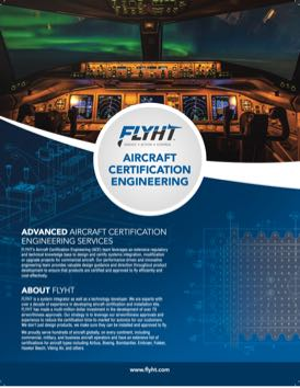 Aircraft Certification Engineering Brochure